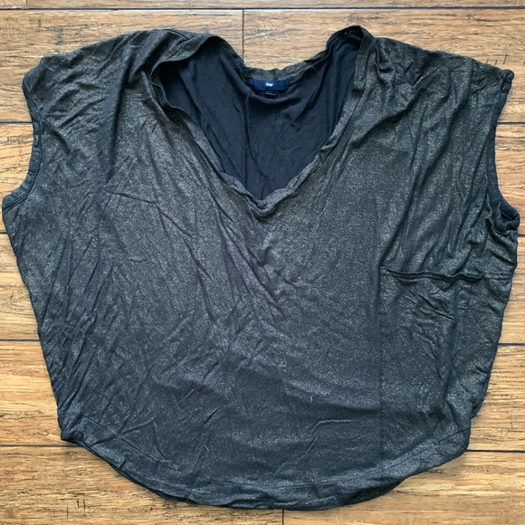 GAP Tops - Black and Gold Shimmery Sleeveless Top